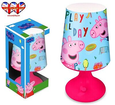 Peppa Pig Table Desk Lamp,Bedroom Night Light,Official Licenced