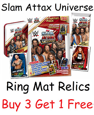 Topps Slam Attax Universe Ring Mat Authentic Event Relics