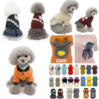 2019 Winter Sweater Warm Dog Coat Costumes Apparel Pet Cat Hoodie Puppy Clothes