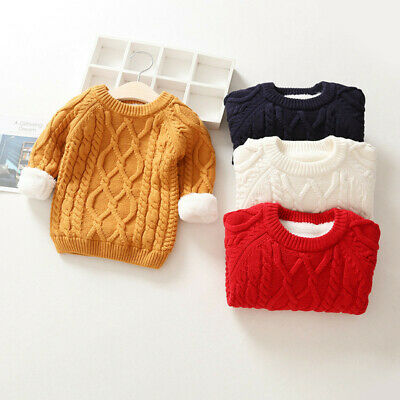 IENENS Toddler Kids Boys Girls Tops Clothes Clothing Winter Fashion Warm Sweater