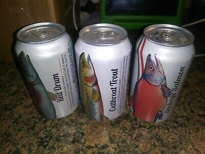 Busch / Busch Light Beer Cans 2016 Angler Series 1 Year Run 3 Different Cans B/O