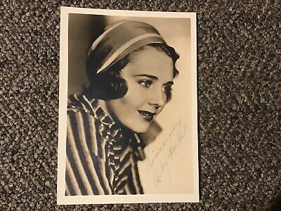 RUBY KEELER  ACTRESS SIGNED PHOTO 1934 WIFE Of AL JOLSON
