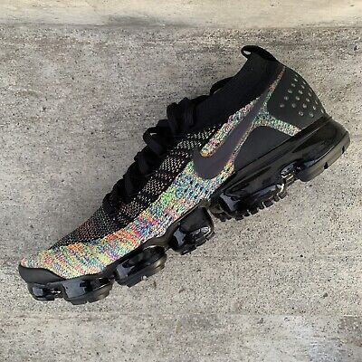 Nike Vapormax Flyknit 2 Men's Running Shoes Multi Color 942842-017 Size 14 Oreo