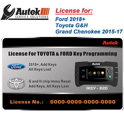 AUTEK IKEY820 KEY Programmer FORD 2018+ Toyota G and H Grand
