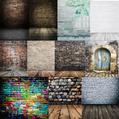 AU HOT SALE Vinly Brick Wall Photography Background Cloth Scene Studio Backdrops