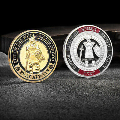 Put on The Whole Armor of God Commemorative Challenge Coin Collection Gift RF