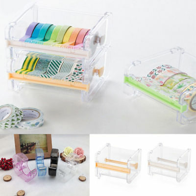 Washi Tape Dispenser Holder Cutter Office School Supply Masking Tape Storage Box
