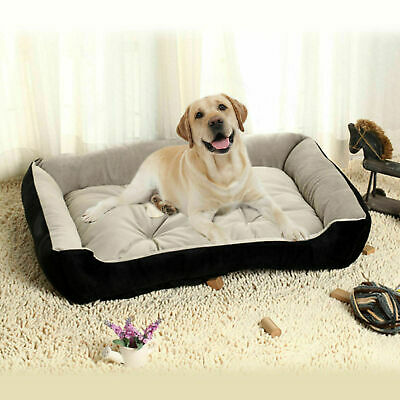Dog Large Bed Soft Fleece Beds Waterproof Pet Cat Basket Winter Warm Nest Mat *