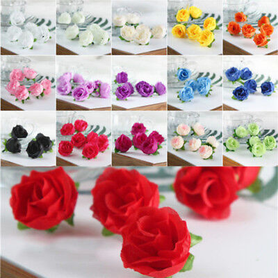 10-50Pcs Silk Rose Bud Floral Heads Synthetic Flowers Mini Rose Buds Popular