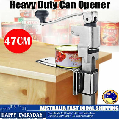 Heavy Duty Large Commercial Can Opener Counter Bench Top Cast Steel Desk 47cm AU