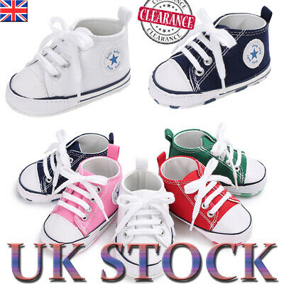 Newborn Baby Boy Girl Pram Shoes Infant Sneakers PreWalker Toddler Trainers 0-18