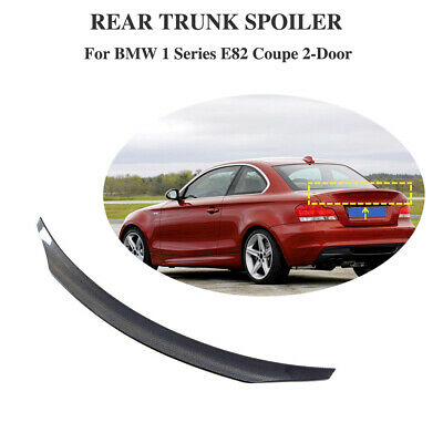 For BMW 1Series E82 1M Coupe 07-12 Carbon Fiber Rear Trunk Spoiler Boot Wing Lip