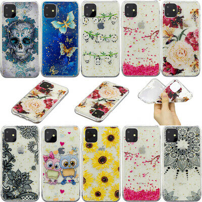 Clear Slim Epoxy Soft Silicone Case Cover For iPhone 11 Pro 11 XS Max XR X 8 7 6
