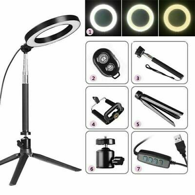 """8"""" LED Ring Light Dimmable 5500K Lamp Photography Camera Photo Studio Phone【US】"""
