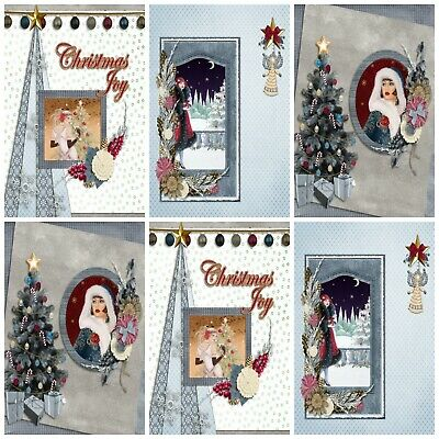 Card Toppers A ART DECO CHRISTMAS 12 Embellishments Card Making Toppers