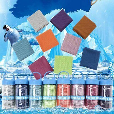 Instant Cooling Towel ICE Cold Cycling Jogging Gym Sports Outdoor Colorful migar