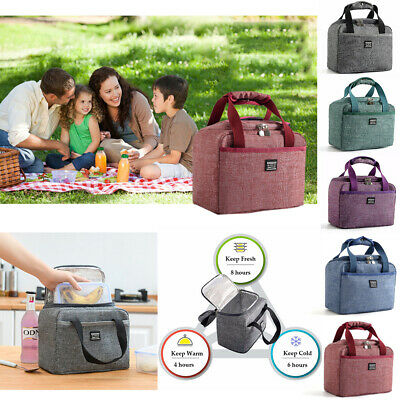 NEW Thermal Insulated Travel Lunch Bag Cooler Outdoor Picnic Ice Storage Box  AU