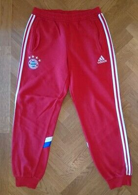 check out new styles cute FC BAYERN MÜNCHEN Trainingshose Gr. M rot Adidas Jogginghose ...