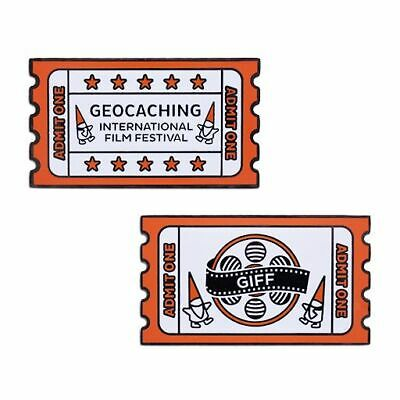 Geocoin and Companion Tag Set 2 Trackables Geocaching Trackable Geschenk Coin