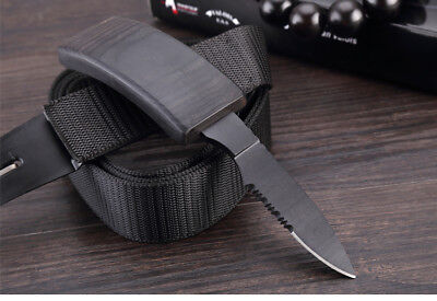 New Outdoor Nylon-Belt Fixed Blade knife Tactical Camping Survival Urgency Saber