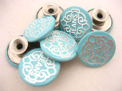 100sets blue jean buttons JEAN TACKS STUDS BUTTONS Jean button replacement