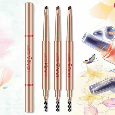 Waterproof Automatic Rotate Brow Tint Double Head Eyebrow Pencil with Brush
