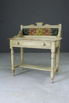 Antique Victorian Painted Pine Washstand Dressing Table