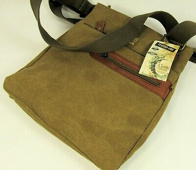 TROOP LONDON CLASSIC CANVAS ACROSS BODY BAG BNWT TRP0370