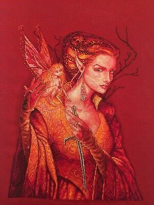Completed Finished Cross Stitch Fairy Queen Nimue Exlusive embroidery Dimensions