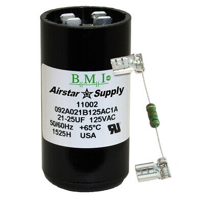 21-25 uF x 125 VAC BMI # 092A021B125AC1A Motor Start AC Capacitor with Resistor