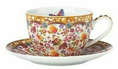 LENOX MELLI MELLO ELIZA STRIPE 12 OZ. COFFEE CUP AND SAUCER - new with tags