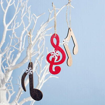 Wooden Snowflake Musical Note Christmas Tree Hanger Ornament for Music 2020 Xm C
