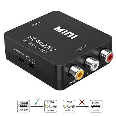 HDMI to RCA 1080P HDMI to 3RCA CVBS AV Composite Converter Video Audio Adapter