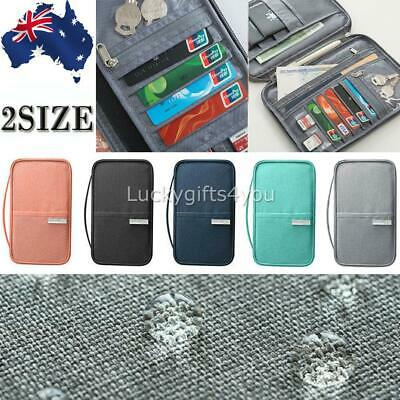 Passport Holder Travel Wallet RFID Organiser Pouch for Cards Documents Money