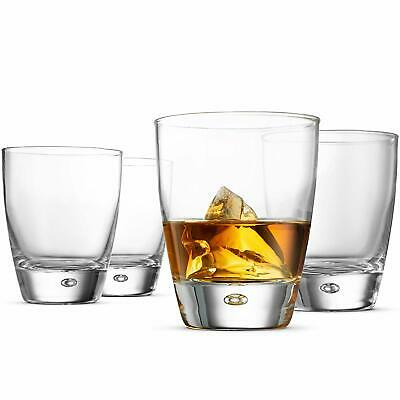 Bormioli Rocco LUNA Double Old Fashioned Whiskey Glasses 11.¾ Ounce (4 Pack)
