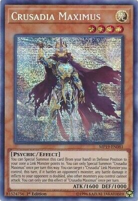 Crusadia Maximus (MP19-EN081) - Prismatic Secret Rare - 1st Edition