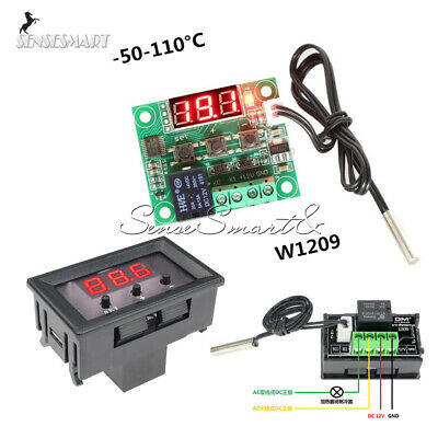 W1209 Digital DC12V Thermostat -50-110°C Temperature Control Switch Sensor +Case