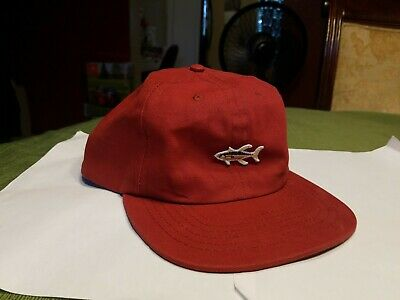 Salty Crew Snapback Fishing Yellow Tail Red Hat Cap
