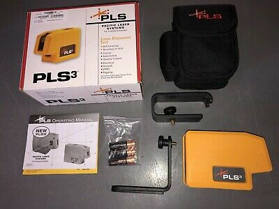 Brand New Pacific Laser Systems PLS3 Red Beam Laser Alignment Tool