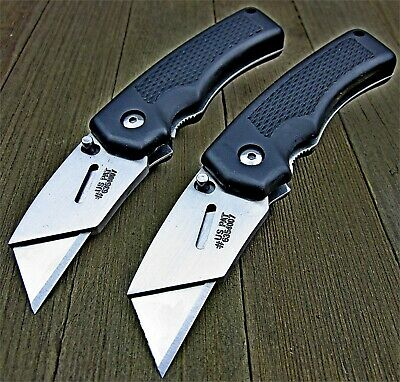 Lot of 2 Gerber Edge TacHide Grip Razor Blade Folding Utility Work Knives NEW