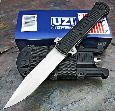 UZI Collapsible Fixed Blade Tactical Covert Military Combat Knife Made in USA