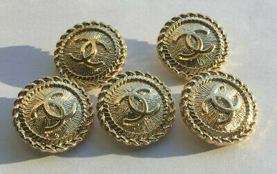 Chanel 5 buttons 20mm Stamped