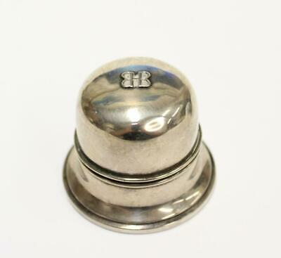 Birks silver ring box bottom stamped Regency Plate hinge detached needs repair