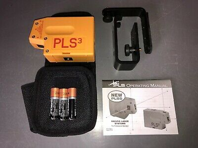 New Pacific Laser Systems PLS3 3-Point Red Beam Laser Level