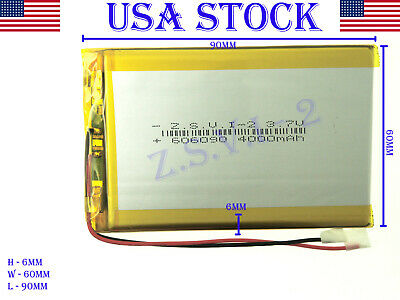3.7V 4000mAh 606090 Polymer Lithium LiPo Rechargeable Battery (USA STOCK)