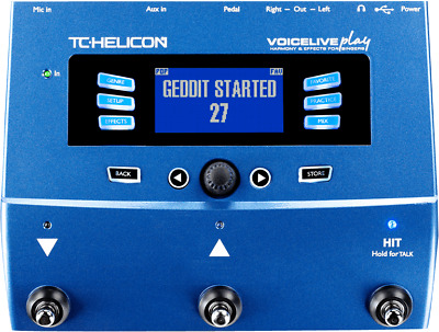 TC Helicon Voicelive Play 3-Button Vocal Effects Stompbox + Warranty