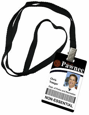 Chris Traeger Parks and Recreation Novelty ID Badge Prop Costume