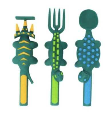 Dinosaur Cutlery Set By Constructive Eating.
