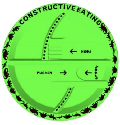 Dinosaur Plate Set By Constructive Eating.