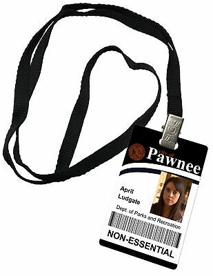 April Lugate Parks and Recreation Novelty ID Badge Prop Costume